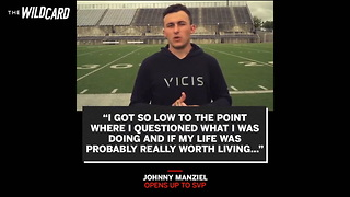 Johnny Manziel Reveals The Heartbreaking Question From His Mom That Saved His Life - Video