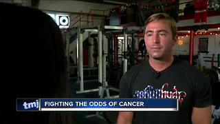 """""""Don't give up"""" Waukesha man using exercise to fight cancer"""