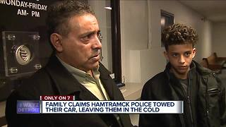 Hamtramck man says his family was treated unfairly by police during a traffic stop - Video
