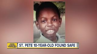 St. Petersburg Police locate 10-year-old boy hours after he went missing - Video