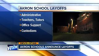 Akron Public Schools eliminate dozens of jobs after closures of three schools - Video