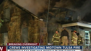 One injured in Sand Springs house fire - Video