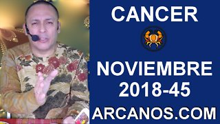 HOROSCOPO CANCER-Semana 2018-45-Del 4 al 10 de noviembre de 2018-ARCANOS.COM - Video