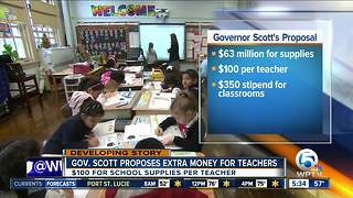 Florida Gov. Scott wants to spend more on teacher supplies - Video