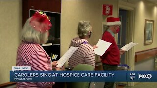 Carolers sing at hospice