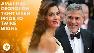 George Clooney skips Aurora prize as twins due any day - Video