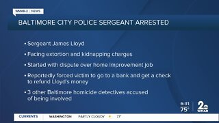 Baltimore City Police Sergeant arrested on extortion, kidnapping charges