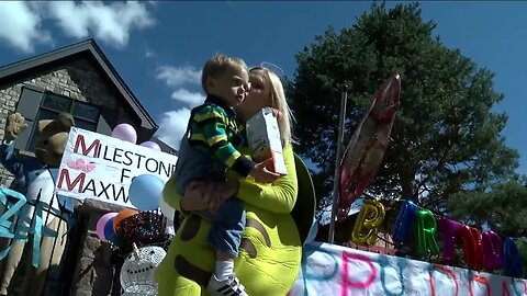 Birthday parade held for special Denver toddlers