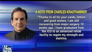 Charles Krauthammer Releases Statement About His Future Following Surgery - Video