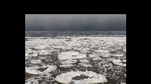 'Frosted Donuts' Seen on Icy Lake Erie