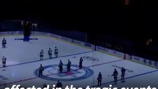 NY Rangers Hold Moment Of Silence Following Terrorist Attack In Manhattan - Video