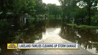 Tropical storm Emily floods family out of their home