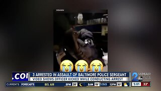 Three arrested in assault of Baltimore Police Sergeant