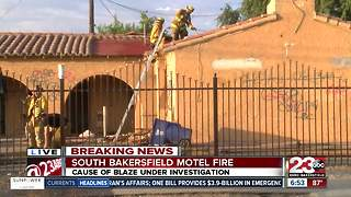 South Bakersfield motel fire just after 6 a.m. on Wednesday - Video
