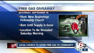 Indianapolis church gives away free gas - Video