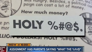 Expletive symbols in assigned book infuriate Henderson elementary school parents - Video