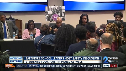 Discussing violence in city schools
