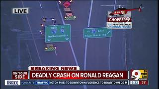 Aerial look at fatal Ronald Reagan Highway crash