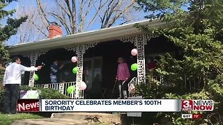 Sorority and family celebrate long-time community member's 100th birthday
