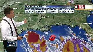 Tropical Storm Barry forms in Gulf of Mexico, expected to strengthen into hurricane on Friday