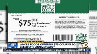$75 coupon for Whole Foods?