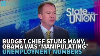 Budget Chief Says Obama Was 'Manipulating' Unemployment Numbers