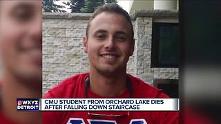 Central Michigan student dies after falling down stairs - Video