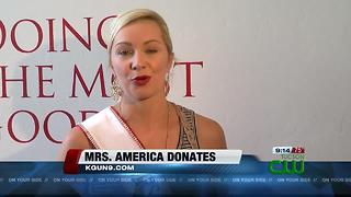 Mrs. Arizona donates to Salvation Army - Video