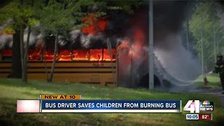 KC school bus driver hailed as hero after fire - Video
