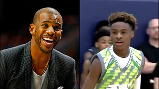 LeBron James Jr Leaves Chris Paul SPEECHLESS During AAU Game - Video