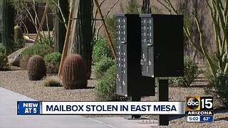 Cluster of mailboxes stolen from Mesa neighborhood