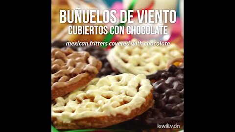 Mexican Fritters Covered with Chocolate