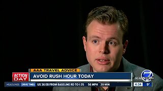 AAA says if you're traveling today, avoid rush hour