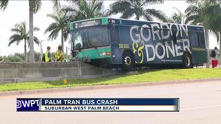 SUV and Palm Tran bus collide in West Palm Beach - Video