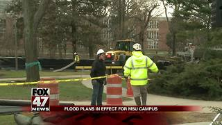 MSU closing roads, lots ahead of flooding - Video