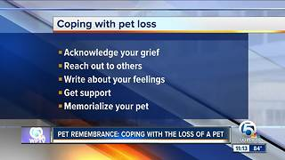 Coping with losing a pet