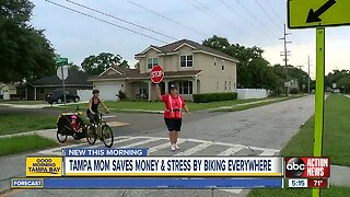 Tampa mom gets in killer shape, saves money by riding her bike everywhere around town