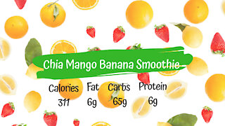 Chia Mango Banana Smoothie | Healthy Vegan Breakfast Smoothie Recipe