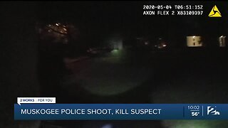 Muskogee body cam video of officer-involved shooting