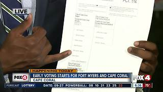 Early voting begins Thursday in Fort Myers and Cape Coral - Video