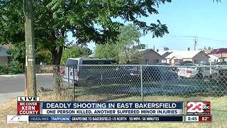 One man dead and one wounded in East Bakersfield shooting - Video
