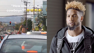 Odell Beckham Jr Gets STUCK in Traffic and Heckled by Cowboys Fans - Video