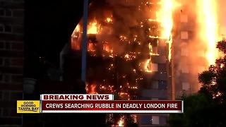 Unknown number killed in massive London high-rise blaze - Video