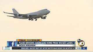 Plane evacuating Americans from Wuhan lands in Miramar