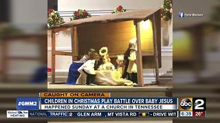 Toddler steals baby Jesus during live nativity scene - Video