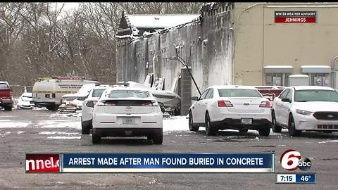 Arrest made after man found buried in concrete