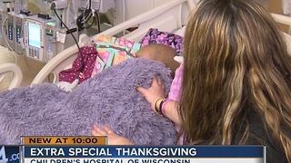 Local family thankful, even though they're spending Thanksgiving at the hospital - Video
