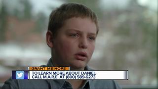 Grant Me Hope: Daniel likes swimming, football, basketball, and bike riding - Video