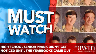 High school senior prank didn't get noticed until the yearbooks came out - Video