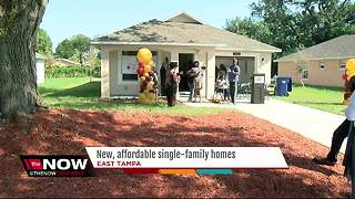 New, affordable single-family homes going up in East Tampa in hopes of revitalizing the area - Video